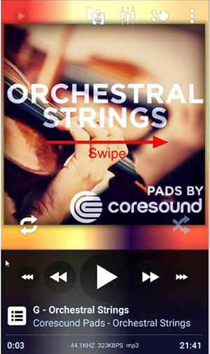 Swipe songs to change - Worship Pads Tutorial